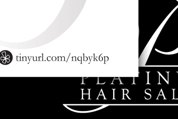 Platinum Hair Salon Business Cards