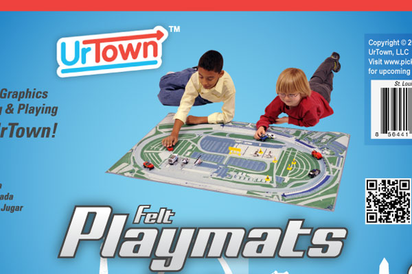 UrTown Playmat Packaging Slip
