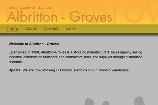 Albritton Groves Website Screenshot