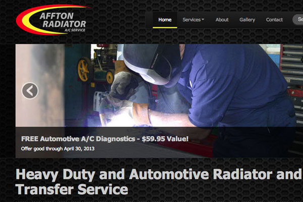 Affton Radiator Website Screenshot