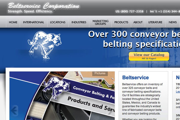 Beltservice Corporation Website Screenshot