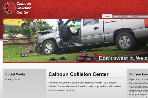 Calhoun Collision Center Website Screenshot