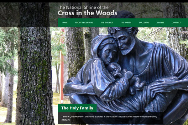 National Shrine of the Cross in the Woods Website Screenshot