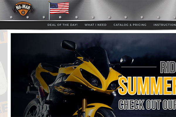 No-Mar Tire Changers Website Screenshot