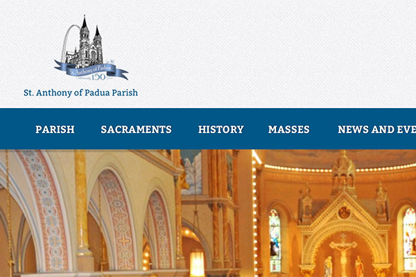 St. Anthony of Padua Website Screenshot